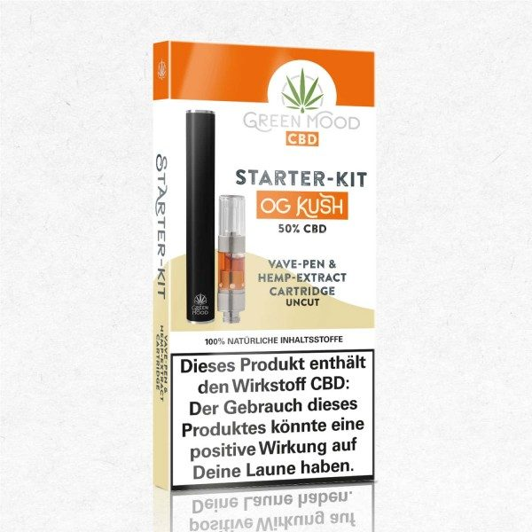 GREEN MOOD StarterKit Vave-Pen OG Kush 0,25ml | 50% CBD