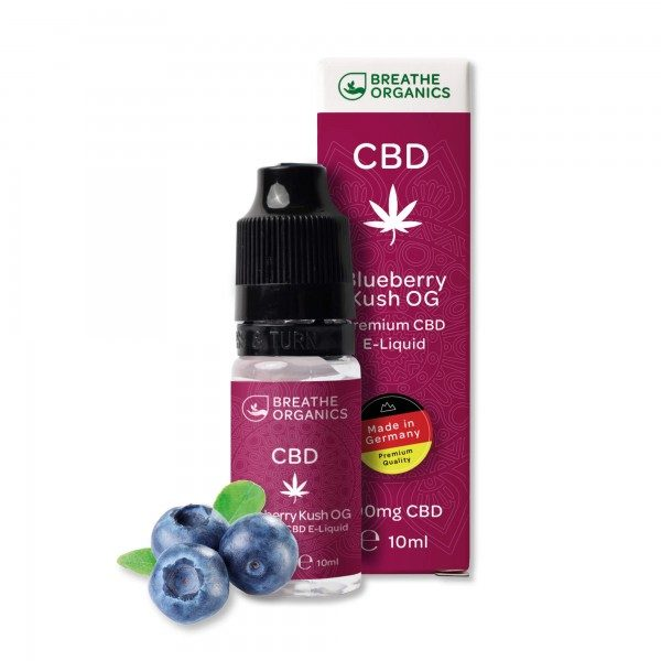 Breathe Organics CBD E-Liquid Blueberry Kush