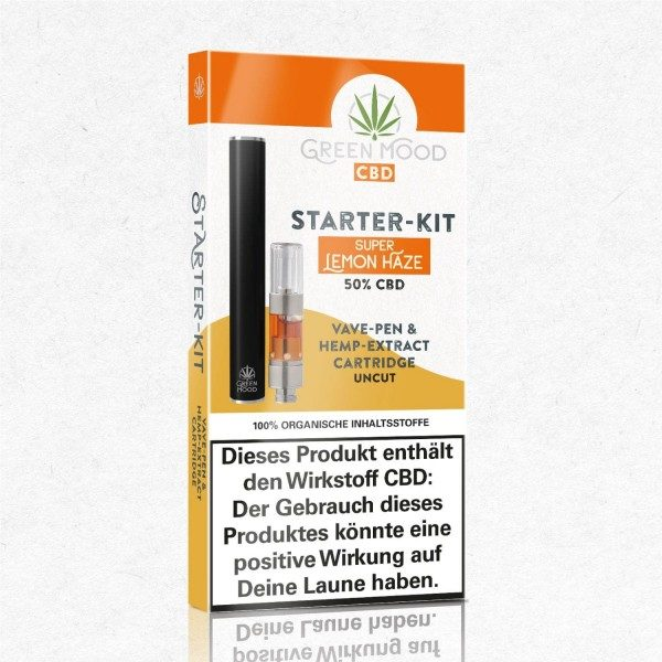 GREEN MOOD StarterKit Vave-Pen Super Lemon Haze 0,25ml | 50% CBD