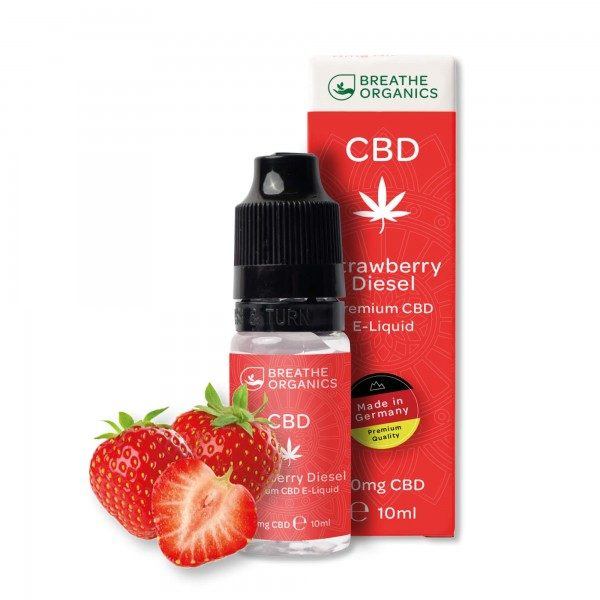 Breathe Organics CBD E-Liquid Strawberry Diesel